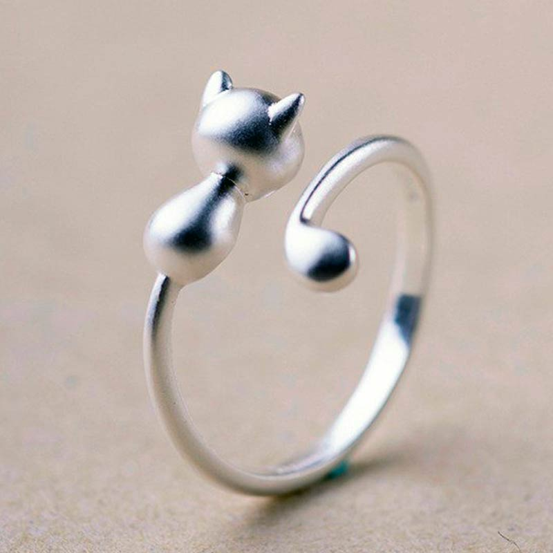 Silver Kitty Ring