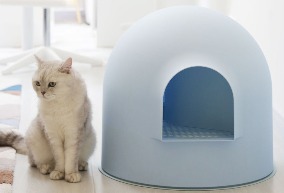 Igloo Cat Litter Box Blue by Pidan