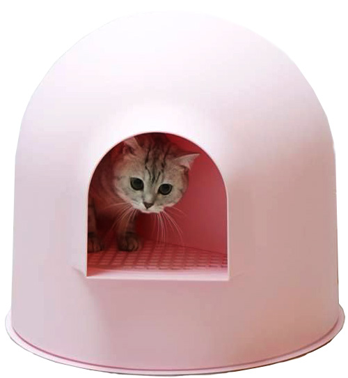 Igloo Cat Litter Box Pink by Pidan