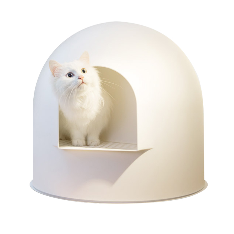 Igloo Cat Litter Box White by Pidan