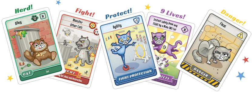 Cat Clash is a highly strategic, feline-lovin, dice rollin, hand illustrated card game great for cat lovers of all ages.