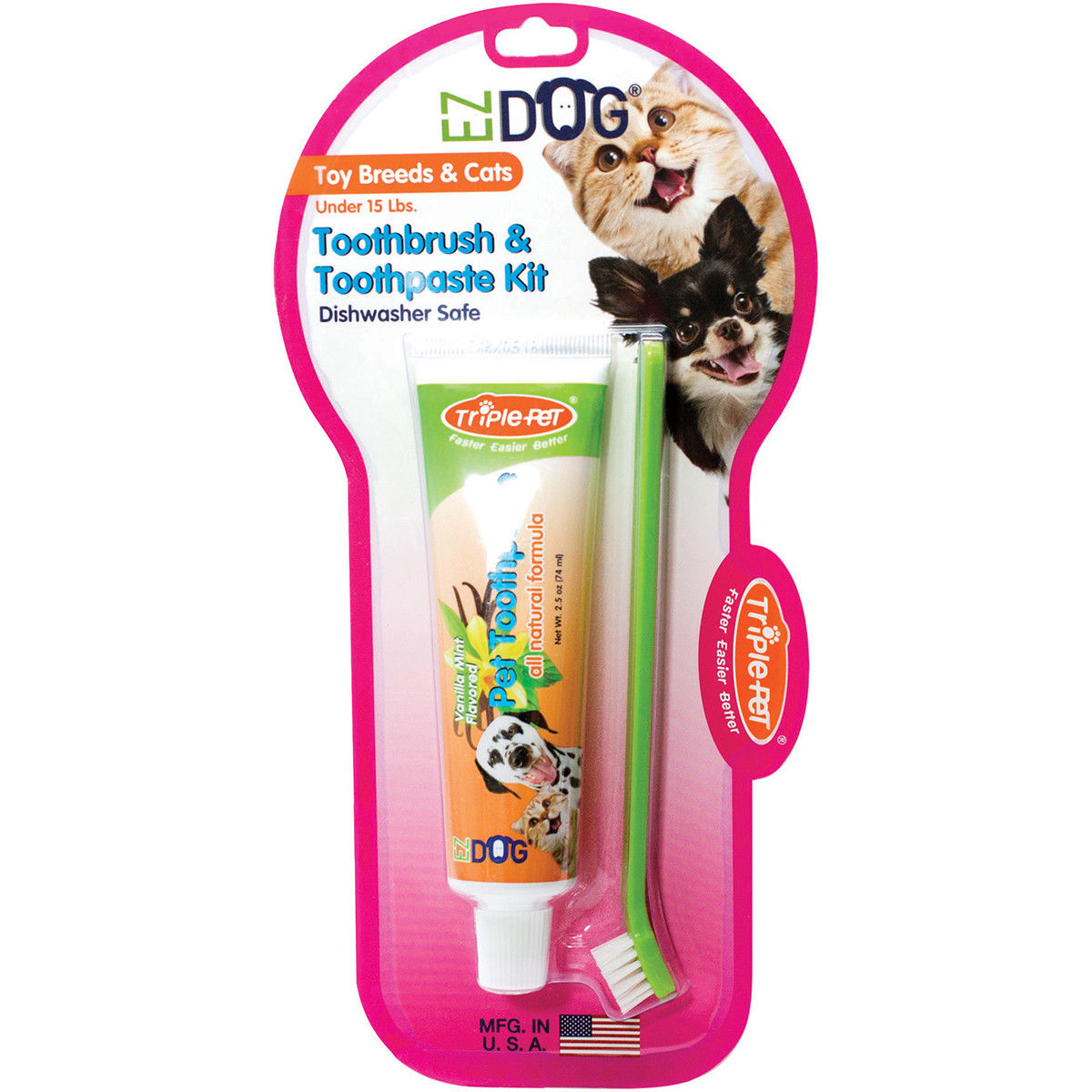 Cat Toothbrush and Toothpaste